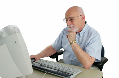 Working on Computer